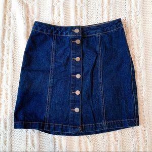 NEW LOOK DENIM High Waisted Button Up Skirt Size 4